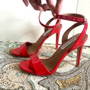 Steve Madden red heels size 6 with ankle strap
